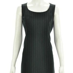 BCBG VINTAGE BLACK PINSTRIPED DRESS SIZE M